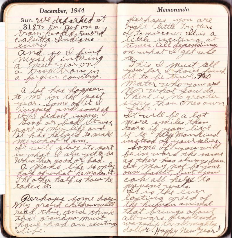 George H Trotter's World War Two Diary from 1944